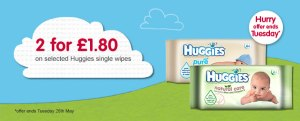 huggies wipes deal in boots baby event