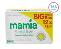 mamia sensitive baby wipes 12 pk aldi specialbuy