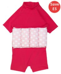 mothercare pink swimsafe float suit
