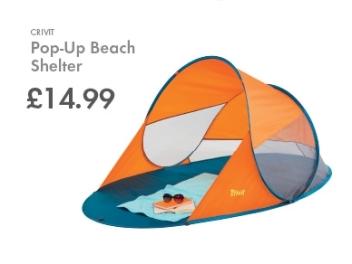 pop-up beach shelter lidl