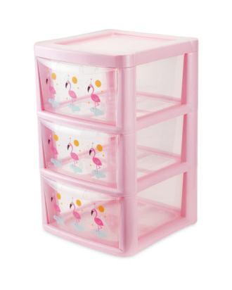 aldi Premier-Flamingo-3-Drawer-Tower-A