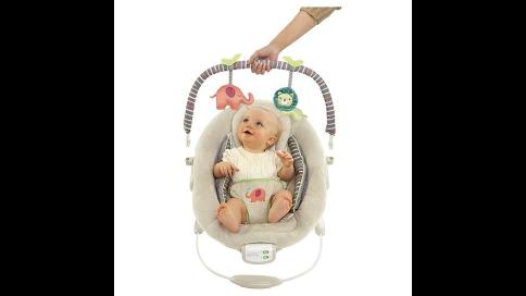 cradling baby bouncy